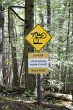 brant cyklistkvalitetstecken Arkivbilder
