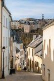 Brant gata i Luxembourg royaltyfri fotografi