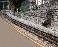 Brant järnväg spår arkivbilder