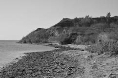 Brant kust av Blacket Sea ukraine royaltyfri bild