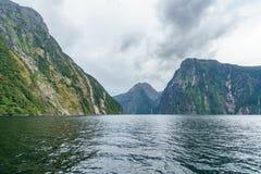 Brant kust i bergen på Milford Sound, fjordland, Nya Zeeland 19 arkivbilder