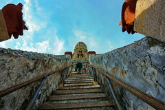 brant pagod Arkivbild