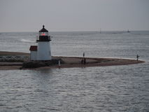 Brant Point Light an der Dämmerung, Nantucket-Insel Lizenzfreie Stockfotos