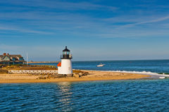 Brant Point Light Lighthouse, Nantucket, Cape Cod-doctorandus in de letteren Royalty-vrije Stock Afbeelding