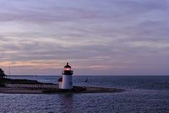 Brant Point Light Lighthouse, Nantucket, Massachusetts, EUA Imagem de Stock