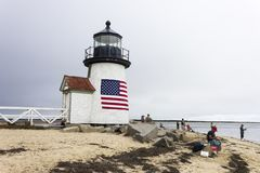 Brant Point Light, Nantucket photo stock