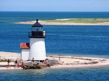 Brant Point Light Nantucket ö Arkivfoton