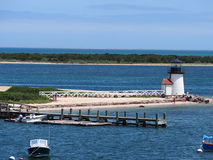 Brant Point Light, Nantucket-Eiland Royalty-vrije Stock Foto's