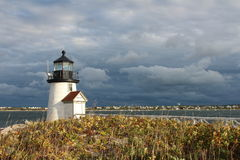 Brant Point Light Nantucket, MOR Fotografering för Bildbyråer