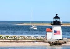 Brant-Punkt-Leuchtturm, Nantucket, MA lizenzfreies stockbild