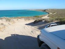 Brant punkt, Westernmost punkt, hajfjärd, västra Australien royaltyfri fotografi
