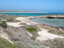 Brant punkt, Westernmost punkt, hajfjärd, västra Australien arkivfoton
