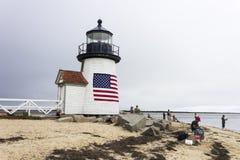 Brant punktu światło, Nantucket zdjęcie stock