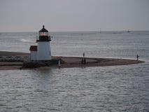 Brant punktu światło przy półmrokiem, Nantucket wyspa Zdjęcia Royalty Free