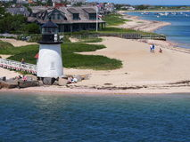 Brant punktu latarni morskiej Nantucket wyspa Zdjęcia Stock
