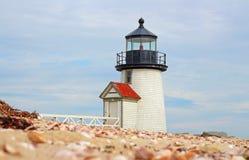 Brant punktu latarni morskiej Nantucket wyspa obrazy royalty free