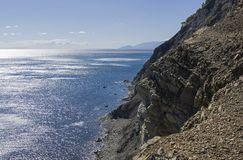 Brant seacoast Krim royaltyfria bilder
