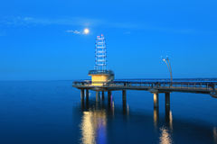 Brant St. Pier Burlington, Canada at night Stock Photo