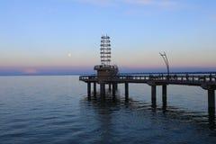 Brant St Pier en Burlington, Canadá en la oscuridad fotos de archivo libres de regalías