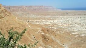 Stigning på det Masada fästet, Israel. fotografering för bildbyråer