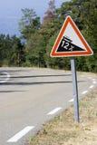 brant trafik för teckenlutning Arkivbild