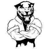 Brant trendig pantera stock illustrationer