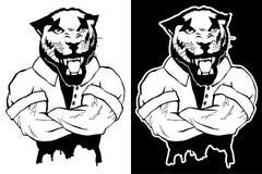 Brant trendig pantera vektor illustrationer