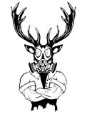 Brant trendigt hjortHipsterdjur vektor illustrationer