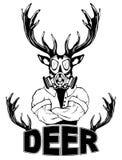 Brant trendigt hjortHipsterdjur stock illustrationer