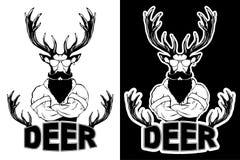 Brant trendigt hjortHipsterdjur royaltyfri illustrationer