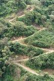 Brant väg i Ecuador Anderna arkivfoton