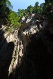 brant vägg för grottakrater royaltyfri foto