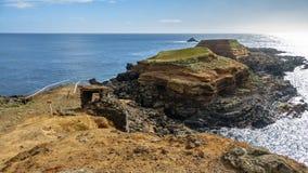 Brant vulkanisk kust fotografering för bildbyråer
