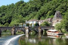 Brantome, Frankrijk Stock Foto's