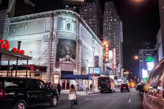 Braodway剧院纽约 库存照片