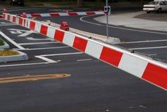 Braços do batente do tráfego de estrada do trilho Fotografia de Stock Royalty Free