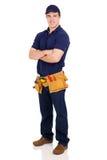 Braços do trabalhador manual cruzados Fotografia de Stock