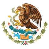 Brasão a bandeira de México Fotos de Stock