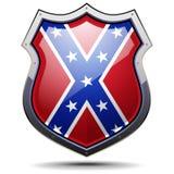 Brasão da bandeira da confederação Fotos de Stock Royalty Free