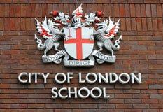 Brasão da cidade da escola de Londres Fotos de Stock Royalty Free