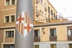 Brasão da cidade de Barcelona, Espanha Imagem de Stock