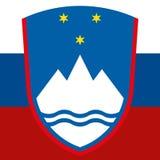 Brasão de Eslovênia Imagem de Stock Royalty Free