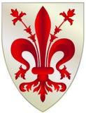 Brasão de Florença - Itália Fotos de Stock Royalty Free