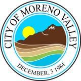 Brasão de Moreno Valley em Califórnia, Estados Unidos ilustração royalty free