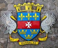 A brasão de Saint Barthelemy (St. Barths). Imagem de Stock