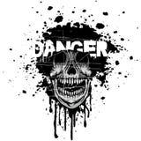 brasão do crânio do grunge Foto de Stock