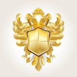 Brasão dourada ilustração stock