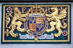 Brasão real do Reino Unido Fotografia de Stock Royalty Free