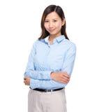 Bras asiatique de pli de femme d'affaires photos stock