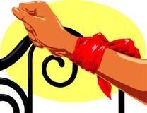 Bras attaché illustration libre de droits
